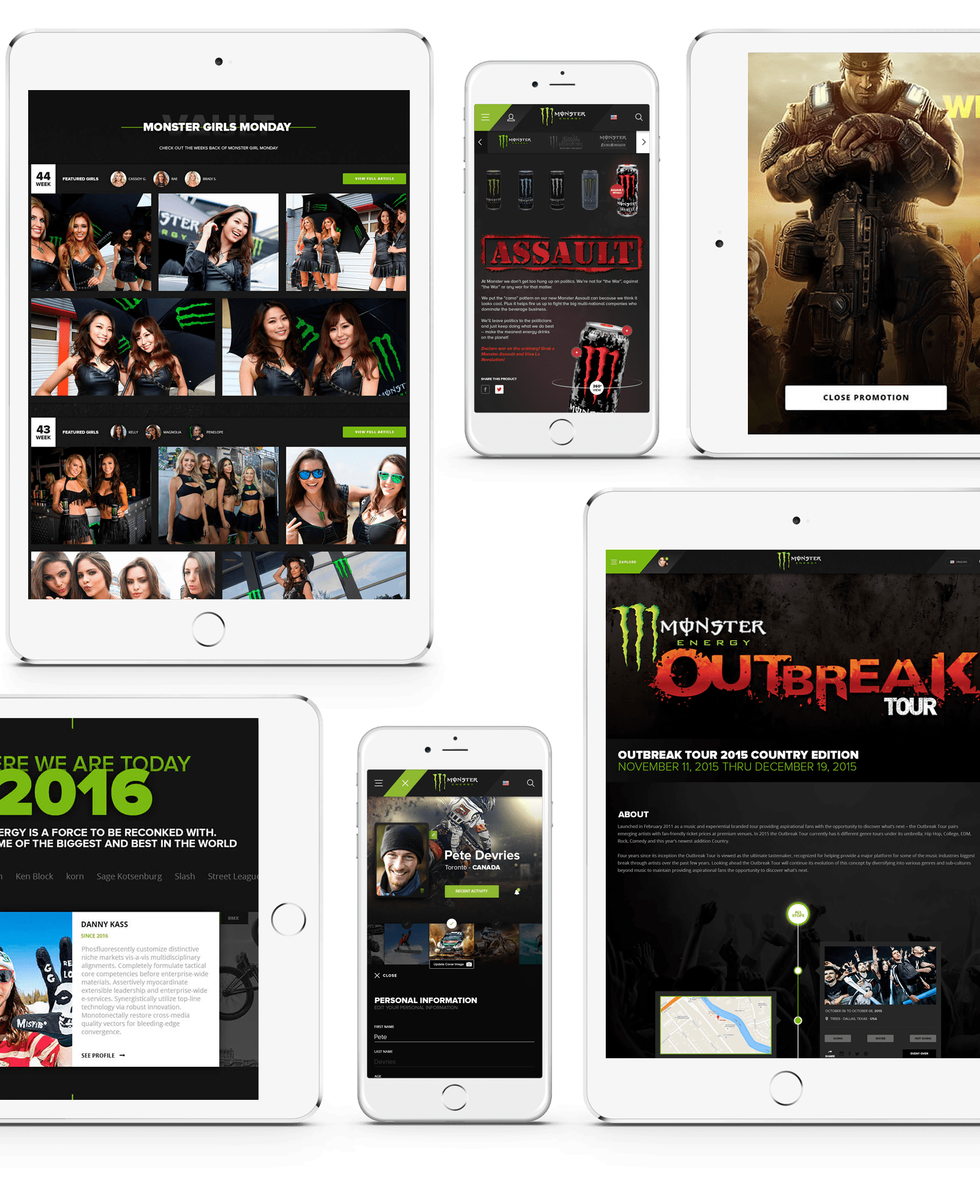 Monster Energy Website, Ekko Media web design, video production and marketing