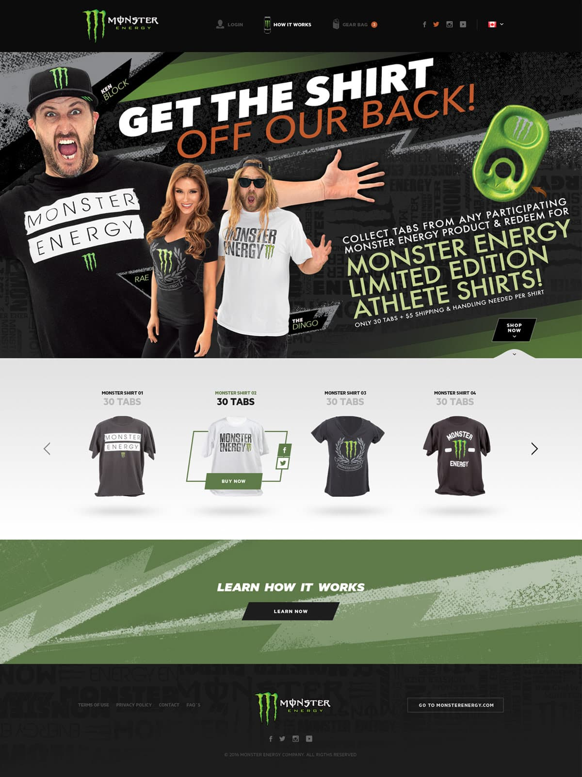 Monster Energy, Ekko Media web design, video production and marketing