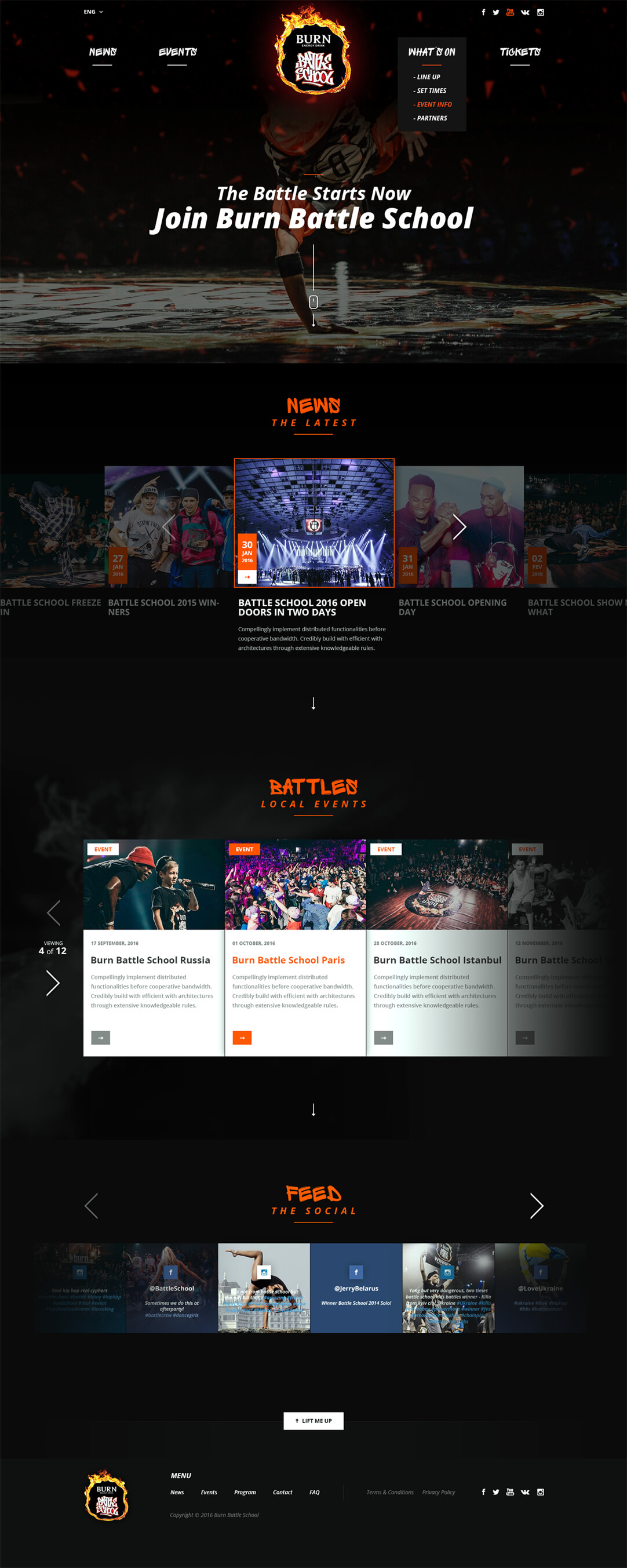 Burn Battleschool, Ekko Media web design, video production and marketing