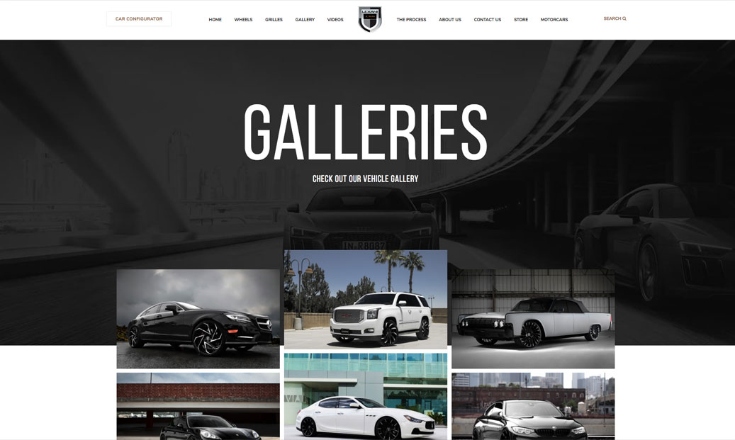 Lexani Wheels Galleries, interactive website, Ekko Media web design, video production and marketing