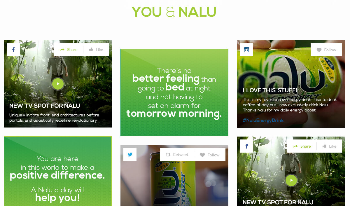 Nalu Energy, Nalu Energy social integration, Ekko Media web design, video production and marketing Ekko Media web design, video production and marketing