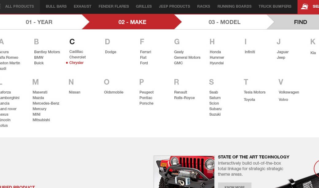Paramount Automotive Search by vehicle, Ekko Media web design, video production and marketing