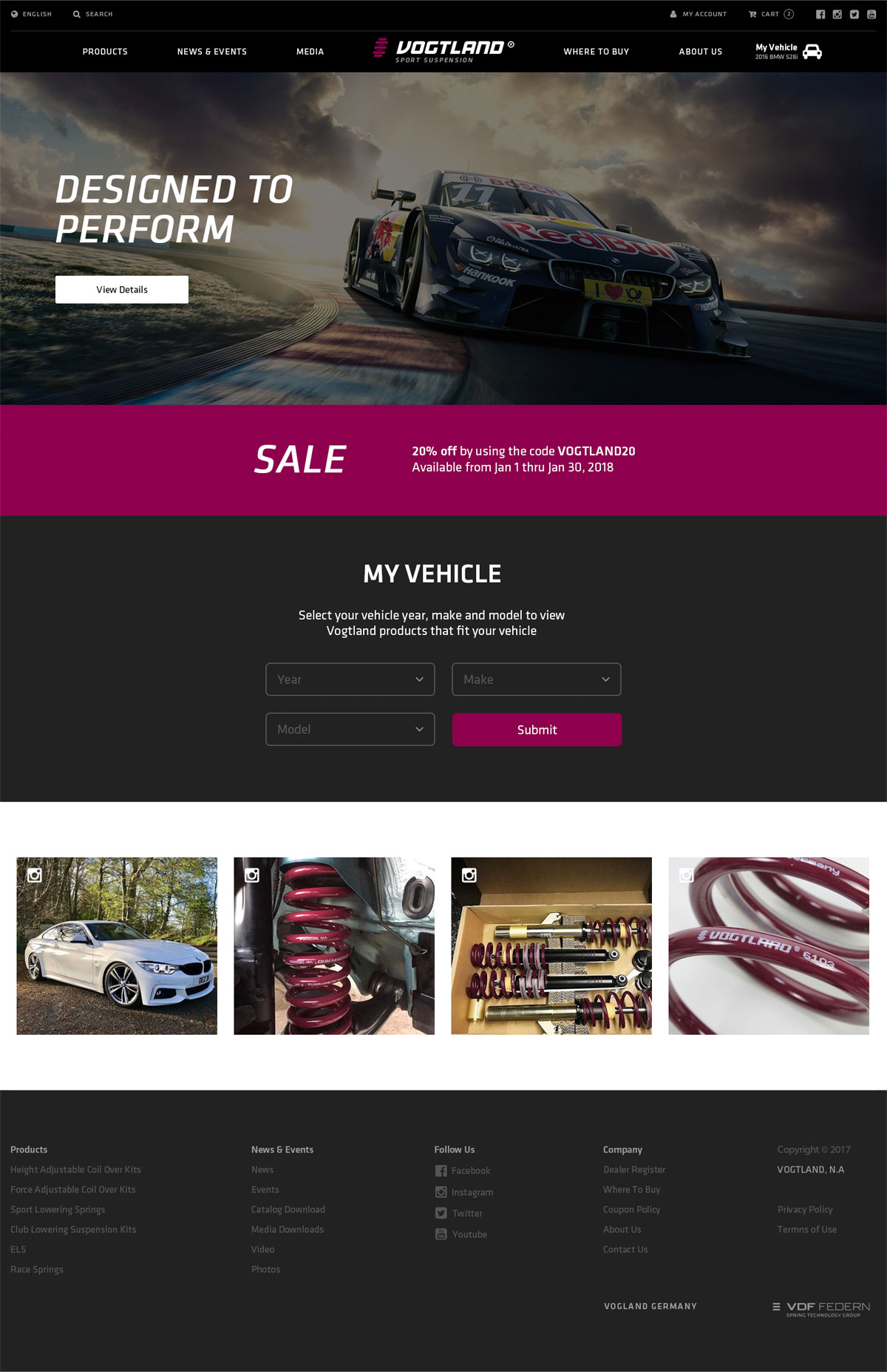 Vogtland Springs website home page