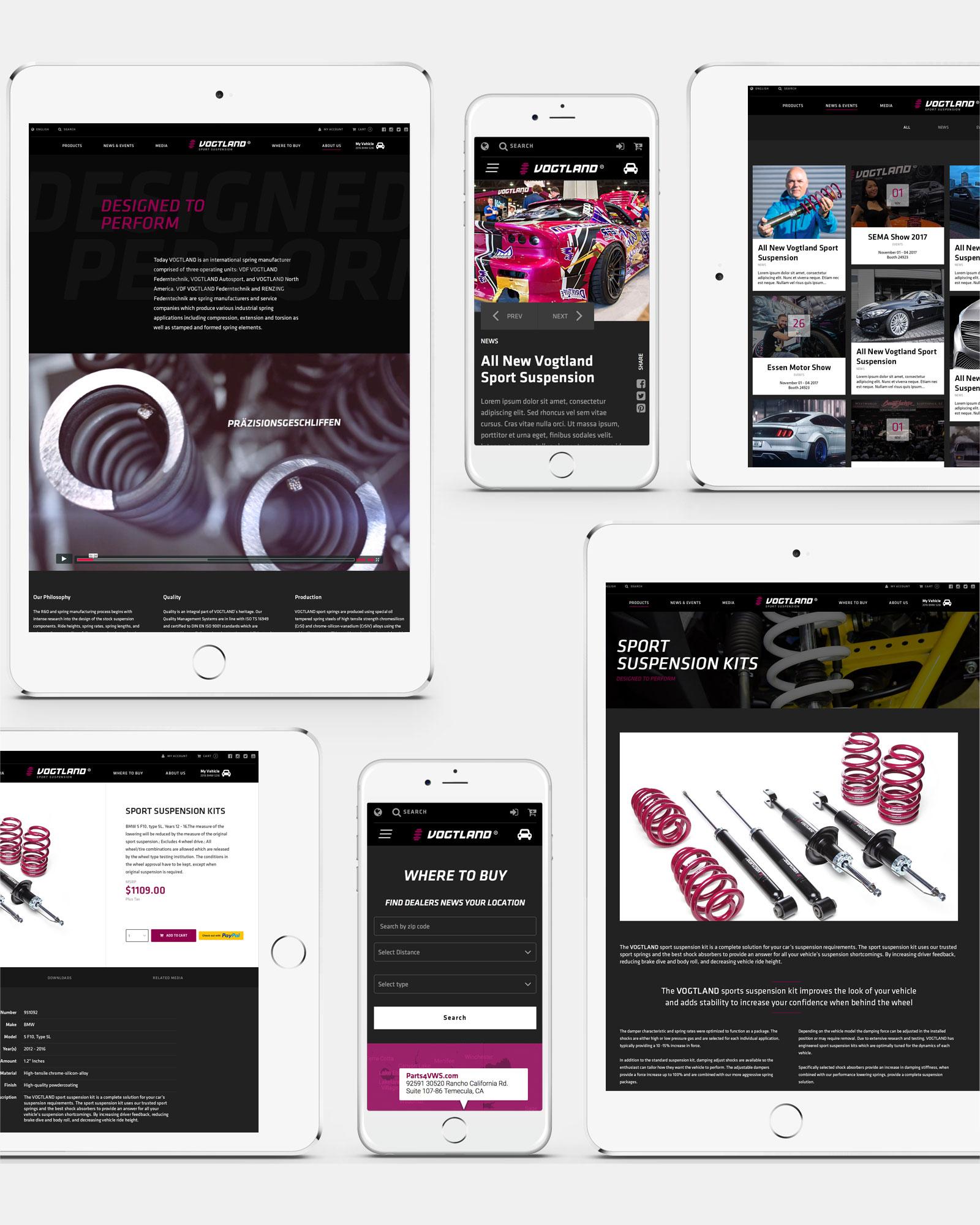 Vogtland NA Springs responsive website designs, interactive website, Ekko Media web design, video production and marketing
